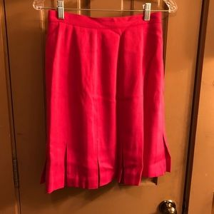 Hot Pink Pleated Power Skirt
